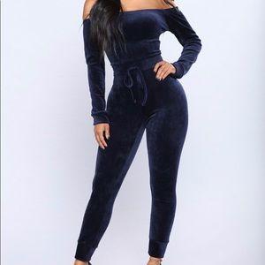 Navy blue cat suit
